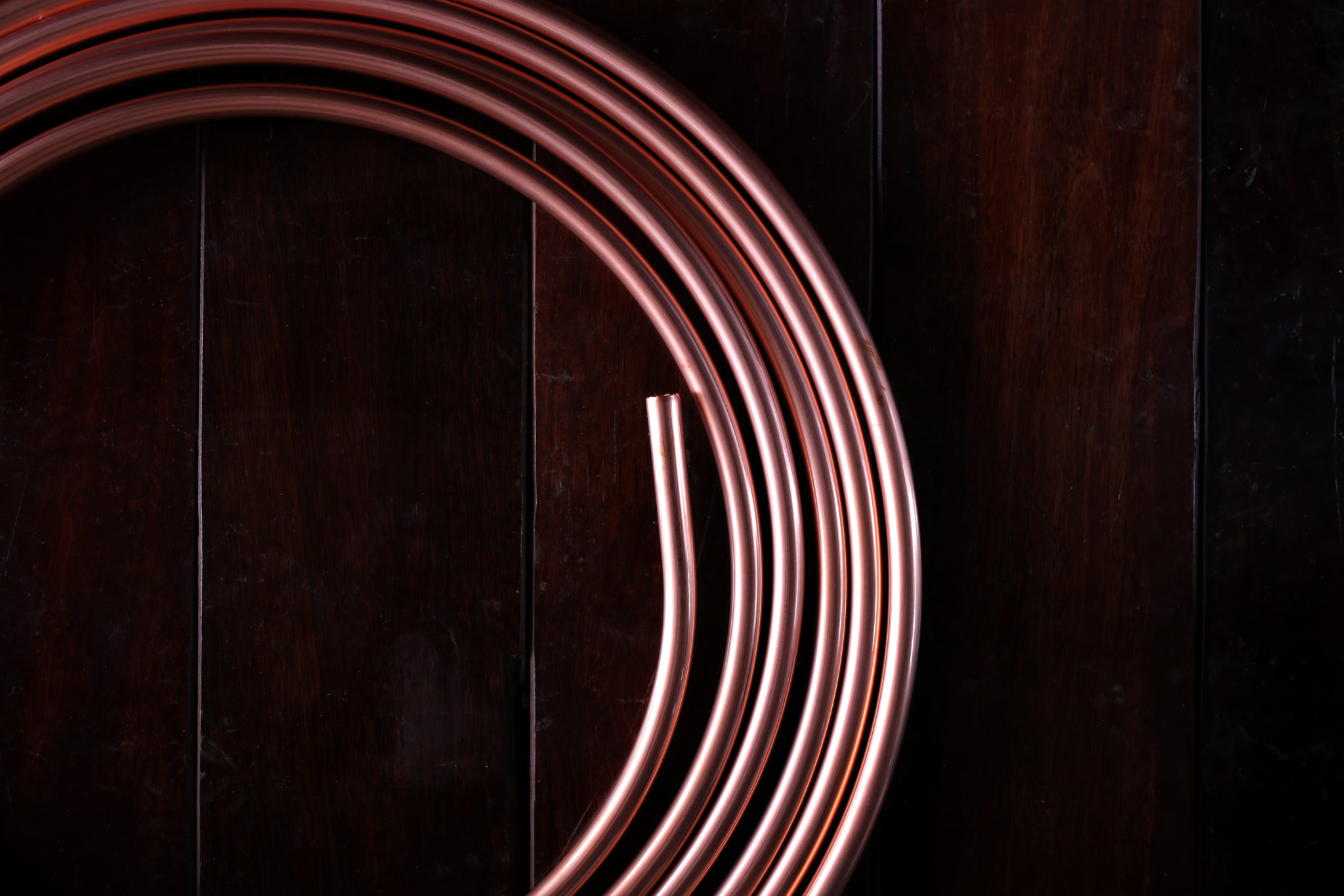 Coiled copper