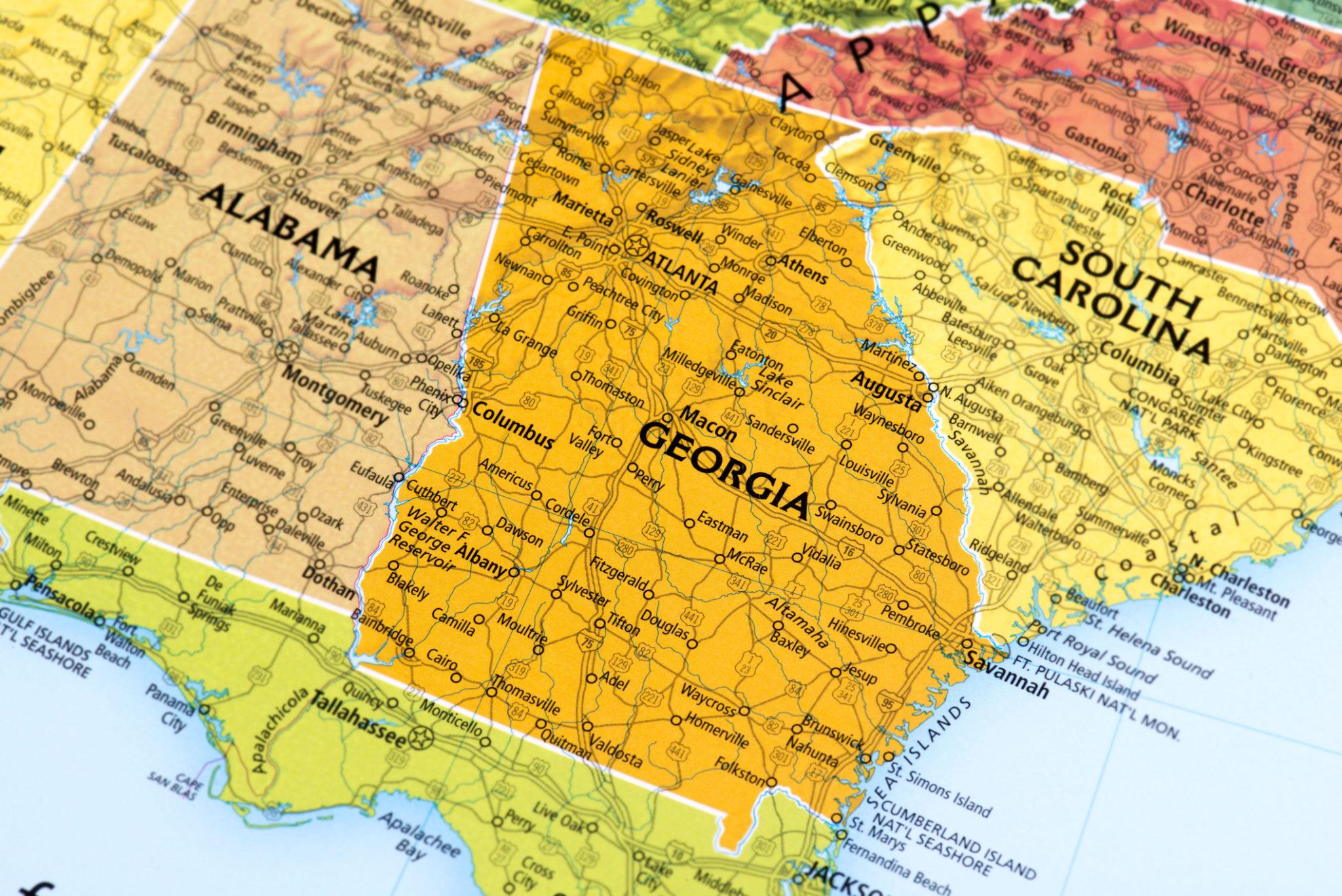 Map Of Georgia With Capital.News Enhanced Capital
